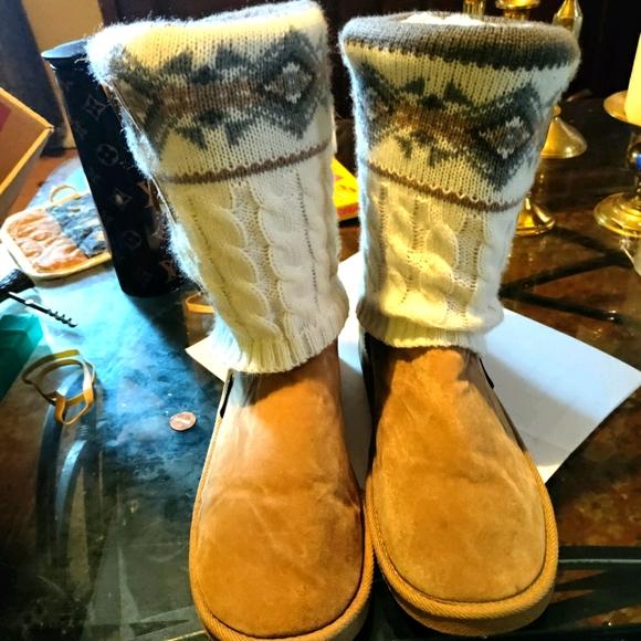 Muk Luks sweater boots